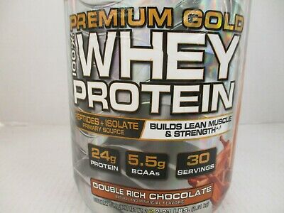 Muscletech Premium Gold 100% Whey Protein Chocolate 2.23Lbs Ea Ex 9/20 Jj 1413