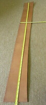 """THICK NATURAL TAN VEG TAN  LEATHER OFF CUT 52"""" X 5""""  X 5mm THICK  CLEARANCE"""