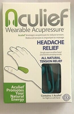 Aculief Wearable Acupressure, (Colour: Teal) 2 in 1