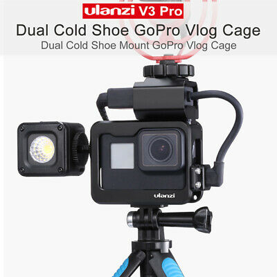ULANZI V3 Pro Cold Shoe Metal Vlog Case Adapter Mic Cable Clip for Gopro 7 6 5