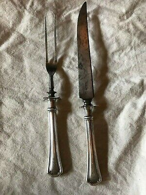 Antique Reed & Barton  Sterling Silver & Stainless Steak Carving Knife & Fork