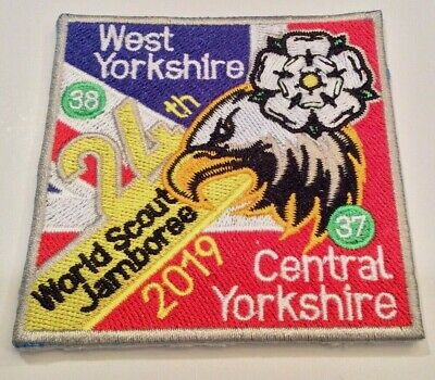 Unit 37 & 38 Yorkshire Combo UK Badge Patch 2019 24th World Boy Scout Jamboree