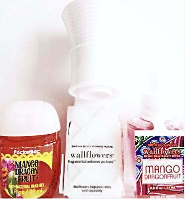 Bath and Body Works Mango Dragon Fruit Pocketbac, Wallflower Bulb and Plug Set