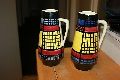 LOVELY PAIR OF VINTAGE PORCELAIN JUGS - circa 1960's - POSSIBLY ITALIAN - LOOK