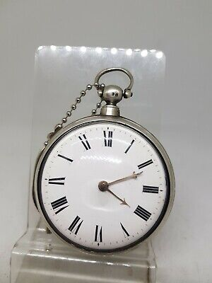 Antique silver pair cased fusee verge Cha. Moreland pocket watch 1831 ref706