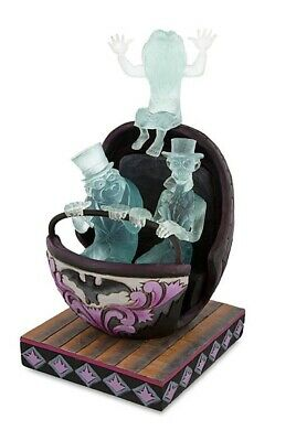 New Disney D23 Expo Jim Shore Haunted Mansion Doom buggy With Hitchhiking Ghosts