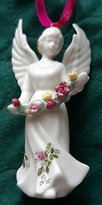 """Royal Albert Old Country Roses """"Angel Ornament"""""""