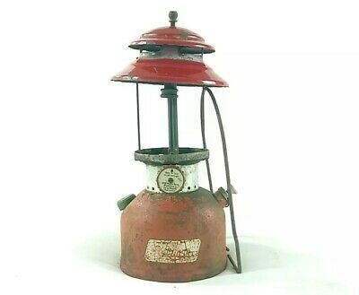 Vintage Coleman Model 200A Red Single Mantle Lantern - For Parts/Repair