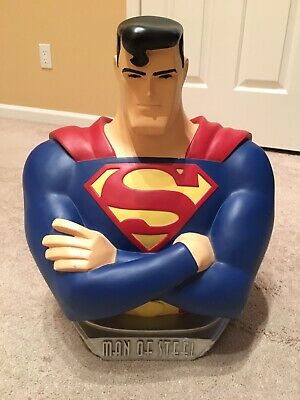 Warner Bros Studio Store Superman Animated Bust 1998! Great Condition