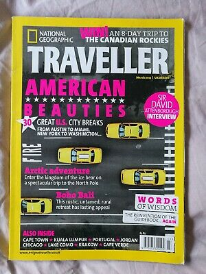 National Geographic Traveller Magazine *new* Mar 2013 Issue. American Beauties