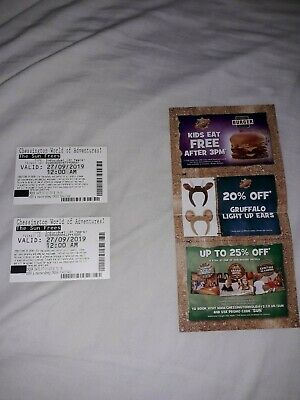 2x Tickets Chessington World child or adult - Friday 27th September 2019