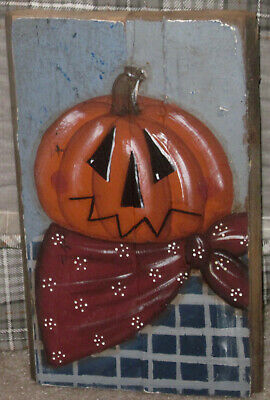 "*~*Primitive*~* Hp Folk Art Prim ""Jack"" Scarecrow *~* Fall *~* Reclaimed Wood"