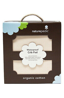NaturePedic Organic Cotton Waterproof Fitted Crib Protector Pad