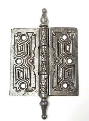 "EA132 Cast Iron Steeple Top Antique Ornate Door Hinge 4"" x 4"""