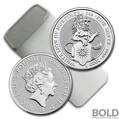 2020 Silver Britain Queen's Beasts (White Lion) - 2 oz (10 Coins)