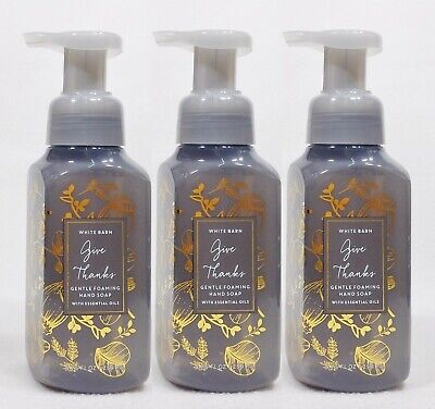 3 Bath Body Works GIVE THANKS Foaming Hand Soap