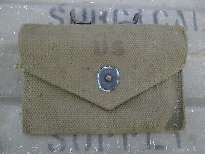 1-43-5 Authentic Late Post WWII WW2  M1942 M42 Carlisle Bandage First Aid Pouch