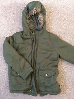Pep & Co Girls Khaki Green Hooded Winter Coat Parka Anorak 8-9 Years 128-134cm
