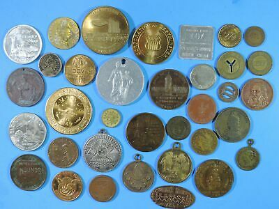 Lot of 35 Tokens & Medals Good for NCO Spiel Marke Counterstamp Boy Scouts Beer