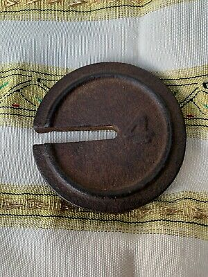 Antique CAST IRON PLATFORM SCALE WEIGHT~MERCANTILE~Nice Paperweight.