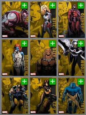 Topps Marvel Collect August Reserve XMen Gold 10 Card Set 592cc Digital