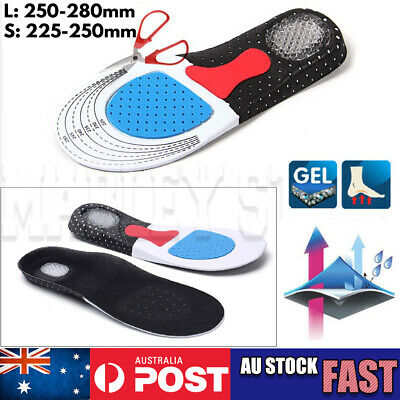 Gel orthotic Insoles Sports Running Inner Soles Cushion Heel Arch Support gym OZ