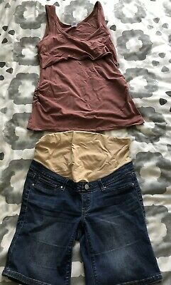 4x Size 10-12 Maternity Items; Jeans, Shorts, Singlet. Jeanswest. Bub2b.
