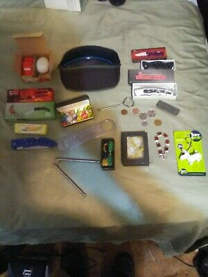 junk drawer lot#10-coins/ring/new knives/other great stuff