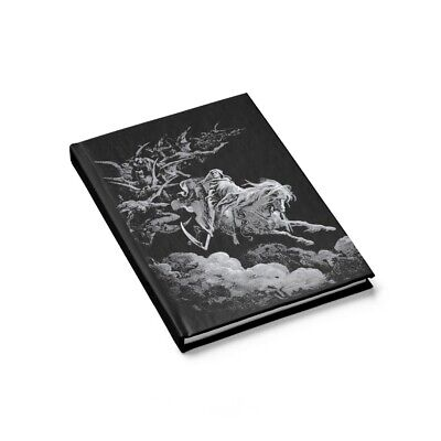 Death Rides The Pale Horse Hardcover Journal, Ruled Line, Gustave Dore, 1865