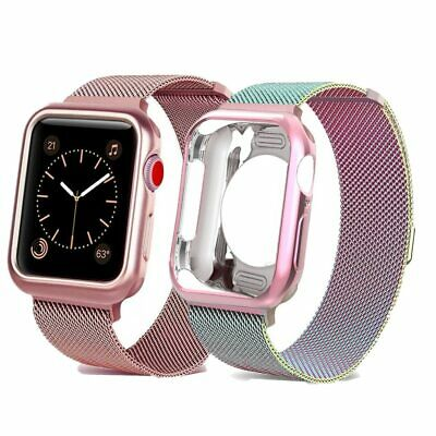 NEW DESIGNER Strap+Case For Apple Watch 1/2/3/4 Band Mlianese Loop 38MM - 44MM