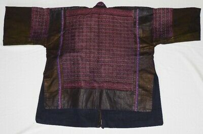 Tribal exotic chinese miao people old hand local cloth embroidery jacket costume