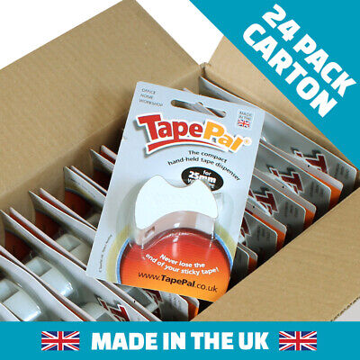 Box Of 24 White Tapepal Tape Dispensers Gift Wrap Stocking Filler