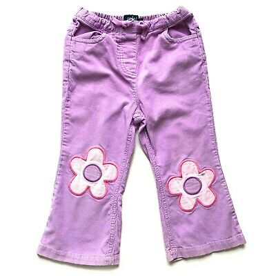 Mini Boden Girls Pink Cord Flower Trousers - Size 2-3 Years