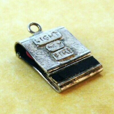 Rare Vintage Sterling Silver Charm Opening Matches Light My Fire The Doors