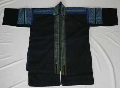Old vintage tribal exotic chinese miao people's hand embroidery costume jacket