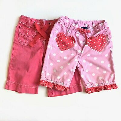 2 x Girls Mini Boden Shorts - Pink & Red - Size 3 years