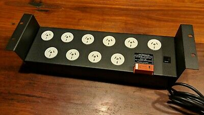 """MFB 19"""" Rack 2RU PDU 10 Outlet Power Distribution Board, 10A, Surge Protected"""