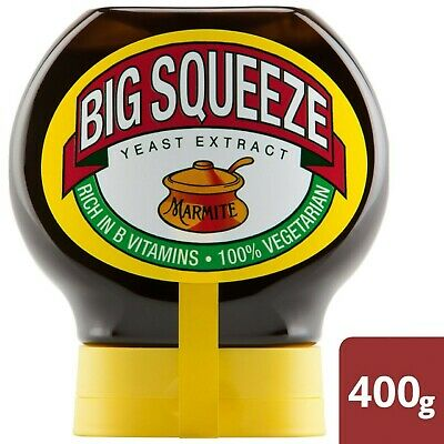 1 x Tub Of Squeezy Marmite Yeast Extract Spread 1 Big Squeeze Tub 400g