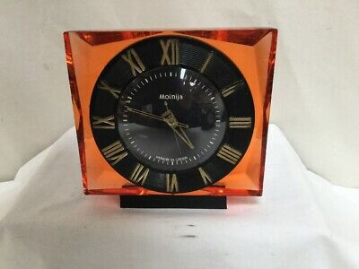 Antique Molnija 8 Day Mantle Clock Made in USSR