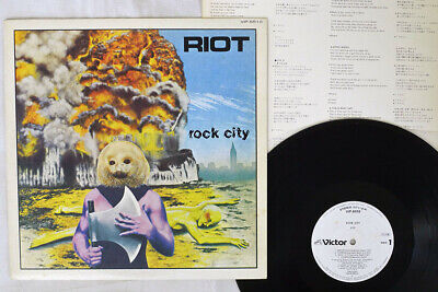RIOT ROCK CITY VICTOR VIP-6510 Japan PROMO VINYL LP