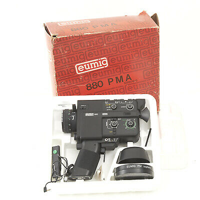 EUMIG 880 PMA 8mm MOVIE CAMERA With Accessories.