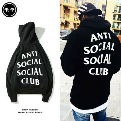 AU stock anti social social club Hoodie Sweatshirt Jumper cotton unisex