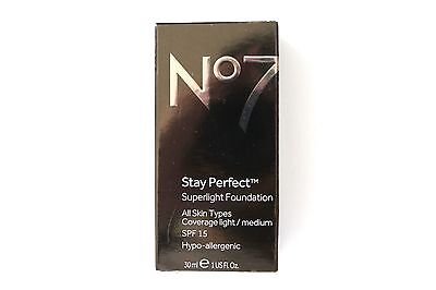 No7 Stay Perfect Superlight Foundation All Skin Types - Please Choose Shade: