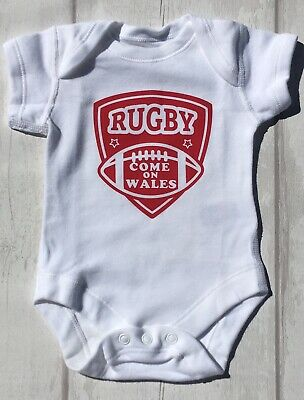 Babies Rugby World Cup Bodysuit England, Wales, Scotland, Ireland & other teams