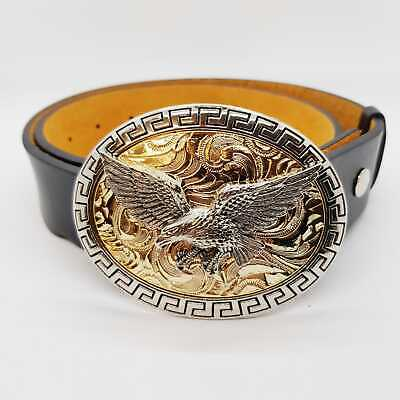 Golden Eagle Belt Buckle Heavy Metal Biker USA Cowboy Western Indian Cowboy