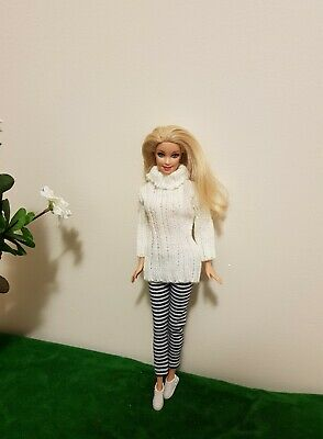 New fashion knit sweater and pants outfit For your Barbie doll Au seller