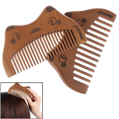 Cute Cat Design Natural Wooden Comb p Anti Static Women Hair Care Styling Too~GN