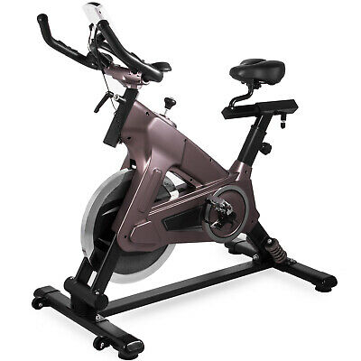 Exercise Bike Indoor Cycle Bike 50Lbs Pulse Sensors Durable LCD Monitor