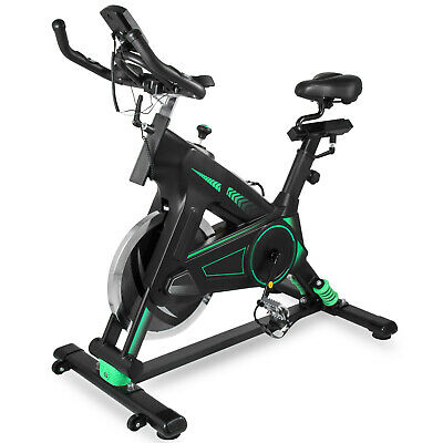 Exercise Bike Indoor Cycle Bike 40Lbs Home LCD Monitor Cycling Sports