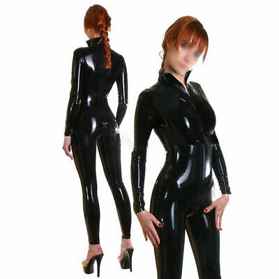 2019 Latex Catsuit 100% Rubber Gummi Black Tights Cosplay Handmade Size S-XXL
